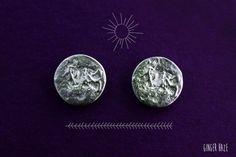 Full Lunar Moon Phase  925 Sterling Silver Stud Post Earrings Navajo Boho Hippie Jewellery Jewelry by GingerHazeJewellery
