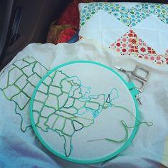 Road Stitching by Jeni Baker, via Flickr