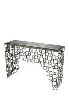 Alvis Metal and Antique Mirror Console Table ➤ For for more awesome tips take a look at: www.modernconsoletables.net #consoletables #homedecorideas #luxuryhomes