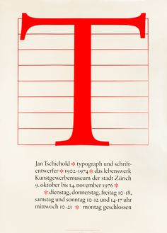 Jost Hochuli (1976) _ Jan Tschichold typograph und schriftentwerfer 1902 - 1974