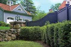 Image result for contemporary fence sloping