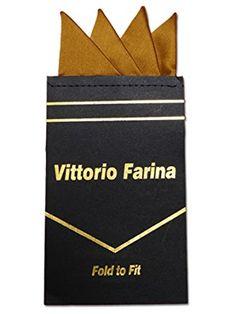 Mens Silk Pocket Square - Gold by VIDA VIDA FtU81WQYR