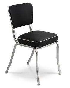 Stackable black diner chairs from Williams Sonoma for $299.00 a set of two.
