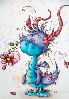 Tattoo dragon cute fairy art ideas for 2019 Art Fantaisiste, Art Mignon, Cute Dragons, Happy Paintings, Art Et Illustration, Dragon Art, Fairy Art, Whimsical Art, Fantasy Creatures