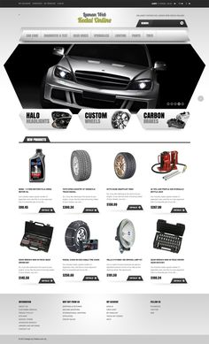 Car Accessories - Ecommerce Website Design