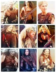 Various female warriors throughout television and movies.