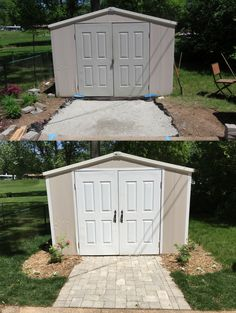 paver walkway to shed Outdoor Ideas, Backyard Ideas, Outdoor Decor, Shed Makeover, Paver Walkway, Outdoor Living, Home Improvement, Garden, Projects