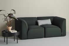 WOUD+-+Flora+Modulsofa+hjørne+-+Forrest+Green+-+ Modular Sofa, Natural Shapes, Creative Studio, Lancaster, Industrial Design, Love Seat, Flora, Couch, Green
