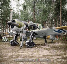 Fokker D-XXI (FR-125)  Hyvinkää airfield 1941.
