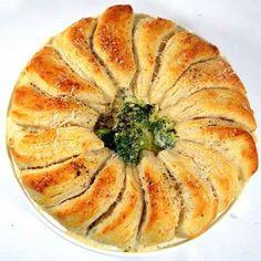 A veggie-filled chicken Alfredo pot pie.
