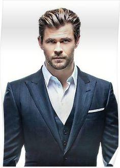 'Chris Hemsworth' Poster by josoyjake – Hairstyles for men Chris Hemsworth Thor, Cris Evans, Mens Modern Hairstyles, Hairstyles Men, Fashion Hairstyles, Black Hairstyles, 1960s Hairstyles, Wedding Hairstyles, Japanese Hairstyles