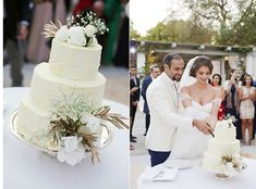 Wedding cake by #ARIAFineCatering for the elegant wedding of Tala & Faisal in Athens!