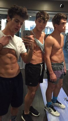*dies* Cameron, Grayson and Ethan