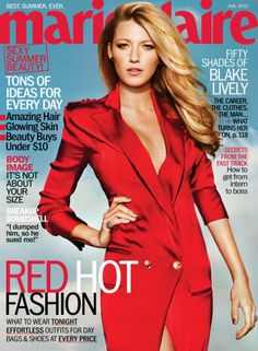 Blake Lively killed this cover of @Marie Claire. #Editorial #BlakeLively #Red #Fashion #SocialblissStyle