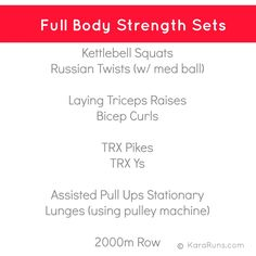 Full body strength w