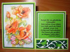 Beates Hobbyseite: Side-Step-Card Mohnblumen mit 3D-Motiv