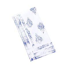 Cote D'Azur Linen Napkins - Mediterranean Blue