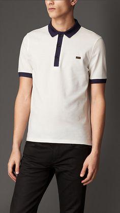 7d6ccb75105f Mercerised Cotton Polo Shirt by Burberry London