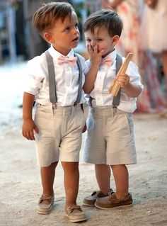 Reminds me of my boys. Love the loafers and suspenders!
