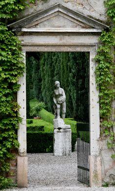 Giusti Garden entrance, Verona, Italy.