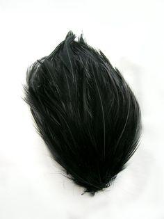 RAVEN BLACK Feather Pad applique for hats headdresses by pegasus22, $2.50