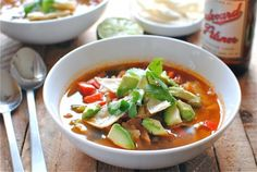The Pioneer Woman's Chicken Tortilla Soup - this was really good.