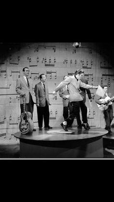 Elvis Presley on the Ed Sullivan Show, Jan 1957.