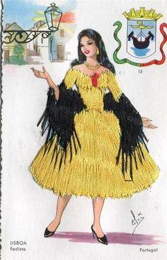 Three Old Spanish Type Dancing Ladies in Silk Dresses Folk Costume, Costume Dress, Costumes, Vintage Cards, Vintage Postcards, Spanish Dancer, Embroidered Silk, Silk Dress, Lady