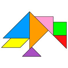Tangram Crow - Tangram solution #142 - Providing teachers and pupils with tangram puzzle activities