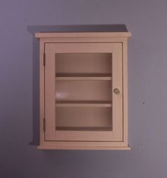 Wall cabinet with reeded glass door