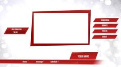 A creative template for a professional presentation template. A simple background with red shapes included.