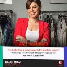 Amy got her foot in the door on the Oprah Winfrey Show and now she gets flown around the world to help people find the perfect items! #MillionDollarShoppers premieres Thursday, October 10 at 10:30/9:30c!