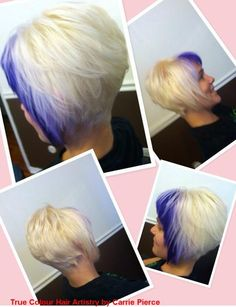 and by True Colour Hair Artistry Sassy Nails, Inverted Bob, Mermaid Hair, Cosmetology, Along The Way, Cut And Style, True Colors, Cute Hairstyles, New Hair
