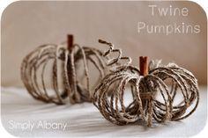 #Fall : DIY Twine Pumpkins
