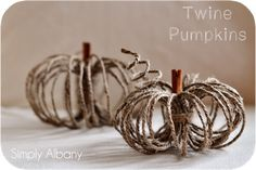 #Fall : DIY Twine Pumpkins