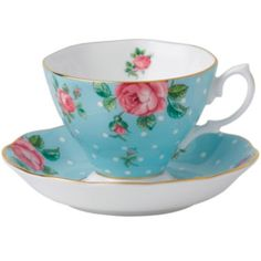 jcp | Royal Albert® Polka Blue Vintage Teacup and Saucer Set