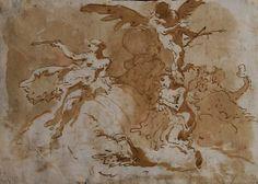 Giambattista Tiepolo, Angels and Figures (verso)