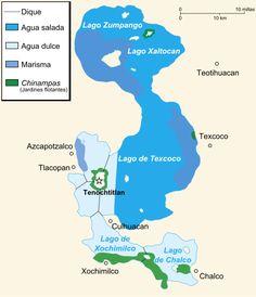 Valley of Mexico c.1519-fr - Lago de Texcoco - Wikipedia, la enciclopedia libre