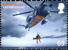 Sello: Rescue Helicopter - Lee-on-solent (Gran Bretaña) (Rescue At Sea) Mi:GB 2626,Sg:GB 2829