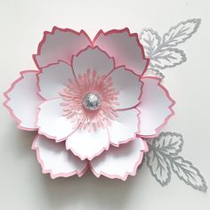 "Here comes Petal #140 in medium size 15""-16"" using only 6 sheets or 8.5x11 sheets of cardstock.Make your own paper flowers for your own special events or home decor. Step by step video tutorial included."
