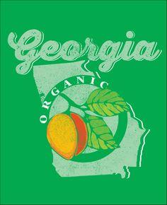 Georgia Peach T- Shirt Foodie Fun