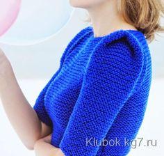 Пуловер крупной вязки с интересной линией плеча | Клубок