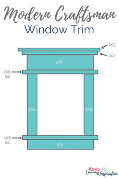 Tutorial for creating modern craftsman window trim. I love the clean crisp look … Tutorial for creating modern craftsman window trim. Craftsman Window Trim, Interior Window Trim, Diy Exterior Window Trim, Outdoor Window Trim, Black Interior Doors, Exterior Stairs, Exterior Cladding, Interior Office, Exterior Doors