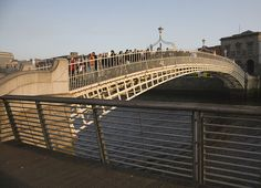 Dublin's Ha'penny Bridge: Originally called the Wellington Bridge (after the Duke of Wellington), the name of the bridge changed to Liffey Bridge. The Liffey Bridge remains the bridge's official name to this day - though it is still commonly known as the Ha'penny Bridge. #Dublin #Ha'penny