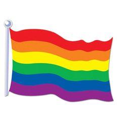 Papp-Flagge Regenbogen 44 cm #regenbogen  #pride #CSD #ChristopherStreetDay #OutandProud #MehrVonUns
