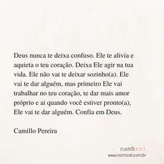 Camillo Pereira. Frases. Deus. Relacionamento. Namoro Cristão. Namorei.