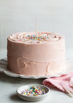How To Make Best Butter Cake | Pink Vanilla Birthday Cake