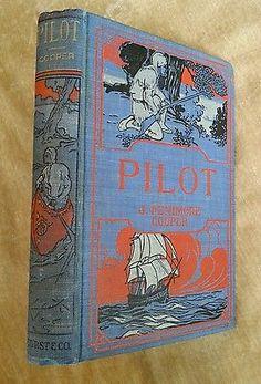 Pilot James Fenimore Cooper Antique Undated Decorative Blue Cover
