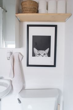 Above the toilet art :P