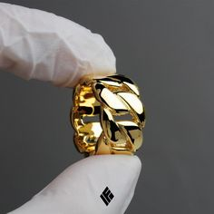 14kt Solid Cuban Ring available on www.IFANDCO.com. #CubanRing #CustomJewelry #IFANDCO